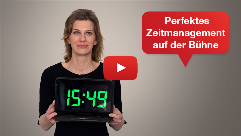 Videotipp: Zeitmanagement auf der Bühne