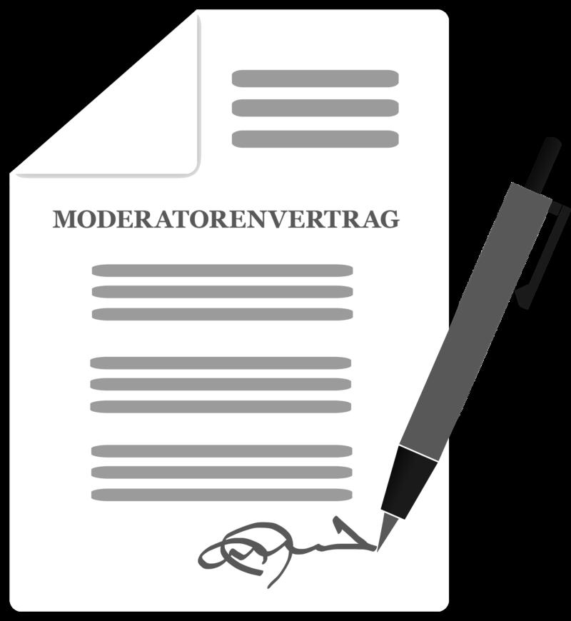 Moderatorenvertrag