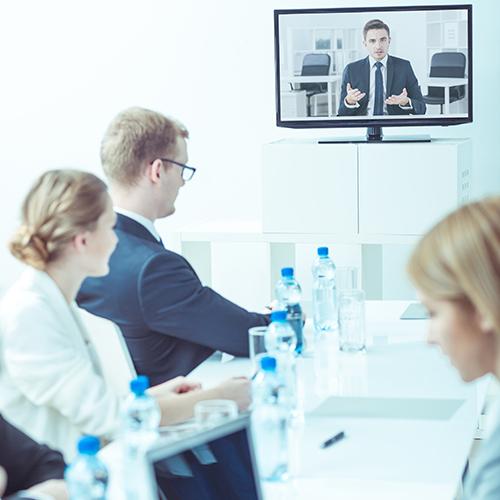 Online-Training im Büro
